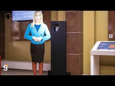 Виртуальный промоутер и интерактивный стол с ПО для предварительного голосования в СГУГиТ г. Новосибирск