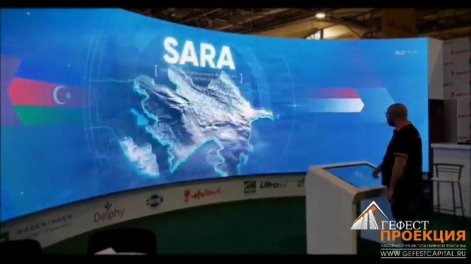 Интерактивный стол DEDAL UNIQ 43, контент и светодиодный экран. CaspianAgro 2017