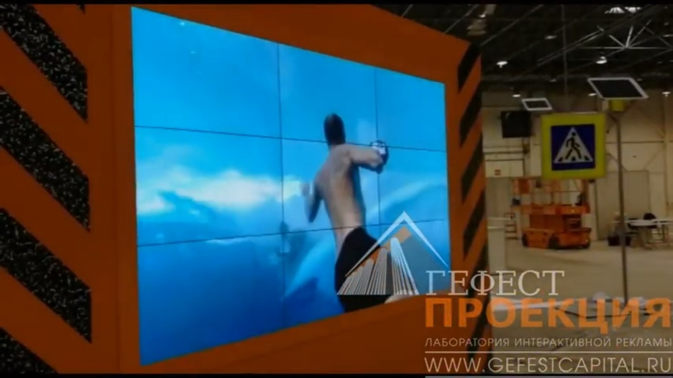 ГК Гефест предоставила в аренду видеостену и интерактивный стол для дорожно-строительного комплекса Новосибирской обл.