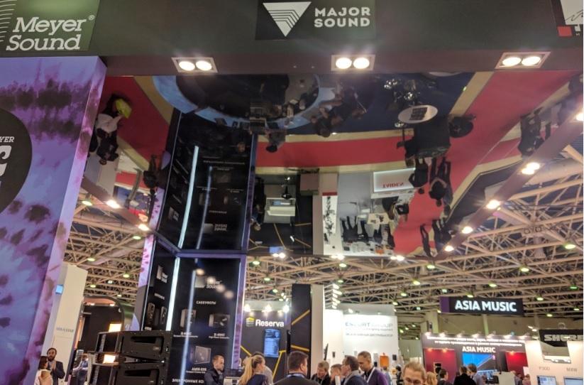 ISR-2017. Экспоцентр. Застройка стенда под ключ для компании Major Sound