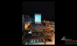 """Проектор Gobo для фонда """"Возрождение"""", приуроченную к празднованию Дня Победы."""