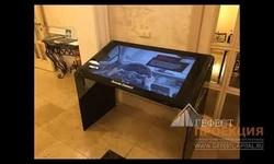 5 августа мероприятие для бренда Porsche. Интерактивный стол 43 дюйма dedal black glass.