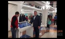 Открытие хоккейного сезона ХК НЕФТЯНИК Альметьевск. Робот, очки виртуальной реальности и интерактивный стол.