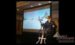 Синергия спортивного тренажера и очков виртуальной реальности от Гефест Проекция