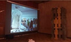Проекционная витрина для Московского союза художников. 3 на 2 метра. Проекционная панель Ifoha