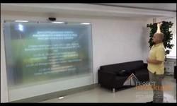 Гефест Проекция предоставила 2 проектора в спарке для Университета МВД и смарт витрину прямой проекции.