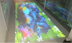Интерактивный пол в медицинской клинике в центре г. Москва