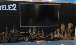 Интерактивная панель Black Jaguar 84 для компании Tele 2 в Москве