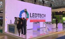 Светодиодный экран и светодиодный пол на стенд компании LEDTECH